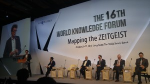 Speaker at the World Knowledge Forum in Seoul