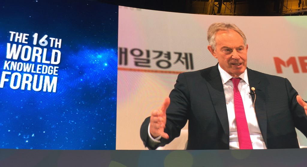 Tony Blair quote at WKF2015
