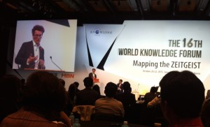 Michael presents at World Knowledge Forum in Seoul