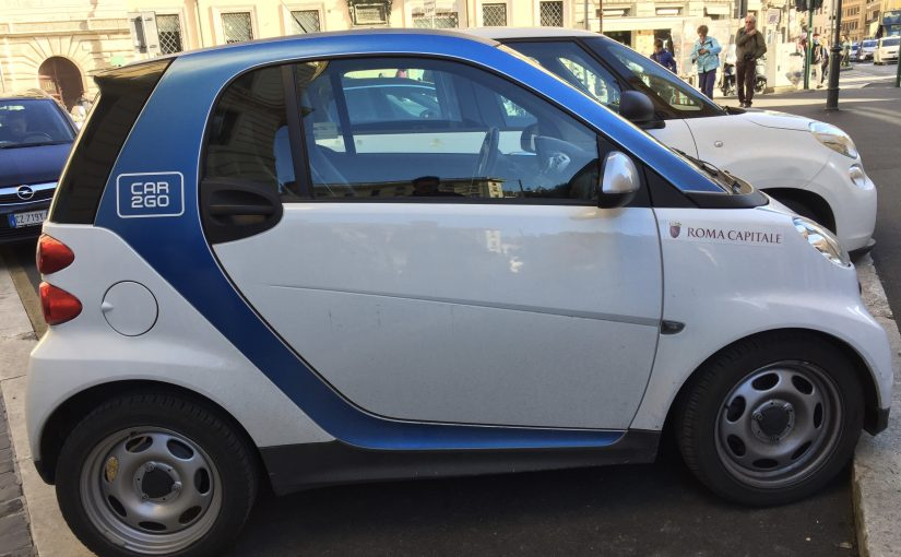 Car Sharing Dienst Car2Go in Rom